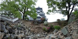 Kumamoto Castle after the April 2016 earthquake